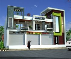 House Outer Design, Modern Small House Design, Creative Visualization, Front Elevation, Amazing Architecture, Exterior Design, Beams, 3 D, Commercial