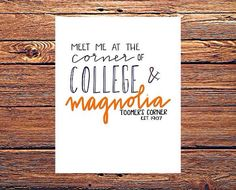 Toomer's Corner  Meet Me at College and Magnolia  by MenaMoona