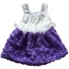 Latest Kids Girls Valentine Light Purple Valentine Toddler Girl Dress Floral Lace Ruffle Dress Big Floral Rose Valentine LOVE