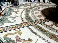 Some of the ancient mosaic floors in the Vatican are over 2000 years old, predating the use of the buildings by Christians.  (Photo by Judith B. Trimarchi starranchnm.com)  2010