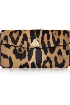 Alexander Wang|Leopard-print calf hair wallet |NET-A-PORTER.COM