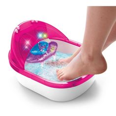 Give them the spa treatment with this Cra-Z-Art Shimmer 'N Sparkle Crazy Lights The Real Super Spa Salon! Little Girl Toys, Baby Girl Toys, Toys For Girls, Pedicure Party, Super Spa, Frozen Toys, Baby Doll Accessories, Travel Accessories, Unicorn Rooms