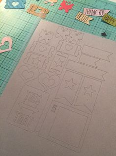 Silhouette Tutorial with Traci: Making your own Chipboard Embellishments