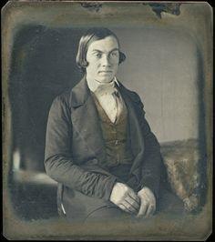 Portrait of an unknown man, early 1840's. Daguerreotype.