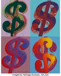 Miscellaneous, Andy Warhol (1928-1987). $ (Quadrant), 1982. Uniquescreenprint in colors on Lenox Museum Board. 39-3/4 x 31-7/8 inches...
