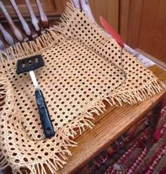 repair chair have holes in your cane seat. This tutorial will hope you to learn how to go about replacing a cane chair seat. Rocking Chair Makeover, Chair Redo, Diy Chair, Cane Furniture, Furniture Repair, Furniture Refinishing, Refurbished Furniture, Furniture Redo, Repurposed Furniture