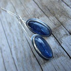 Blue Kyanite Earring Set by MyWifesStudio on Etsy