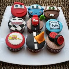 Disney Cars Cupcakes - For all your Disney cars cake decorating supplies, please visit http://www.craftcompany.co.uk/occasions/party-themes/disney-cars-planes-party.html