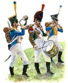 """Westfalia - Westfalian Line Infantry Musicians, 4th and 5th Regiment, pre- and post- 1810""   • Musician  • Drummer  • Fifer"