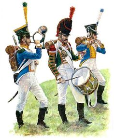 """Westfalia - Westfalian Line Infantry Musicians, 4th and 5th Regiment, pre- and post- 1810""   • Musician  • Drummer  • Fifer"