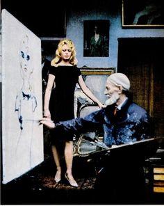 Brigitte Bardot being painted by Kees Van Dongen