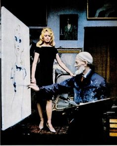 Brigitte Bardot being painted by Kees Van Dongen