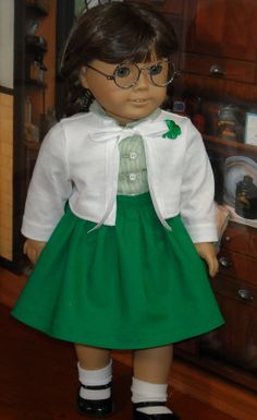 St Patrick's Day Outfit  for 18 inch Girls by SugarloafDollClothes, $65.00