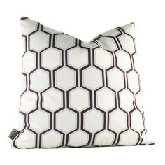 Feather-down pillow with a honeycomb design. Handmade in the USA.Product: Pillow   Construction Material: Recycled ret...