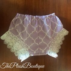 "The ""Emerson"" Purple Lace Baby Shorties by Theplushboutique on Etsy https://www.etsy.com/listing/239359967/the-emerson-purple-lace-baby-shorties"