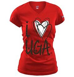 Soffe I Love UGA Bulldogs Tissue T-Shirt $9.99