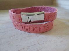Quote armband rose peach met magneetsluiting