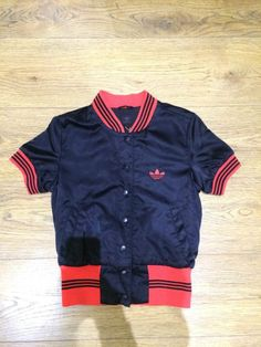 Retro Adidas Short Sleeved Bomber Jacket