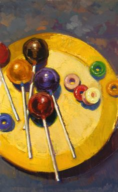 Still life painting of candy by Francis Livingston. Still Life Drawing, Painting Still Life, Still Life Art, Candy Craze, Food Artists, Candy Art, Food Painting, Expressive Art, Middle School Art