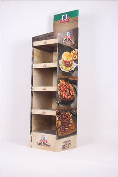 Floor stand,cardboard display,POS display for Grill Mates