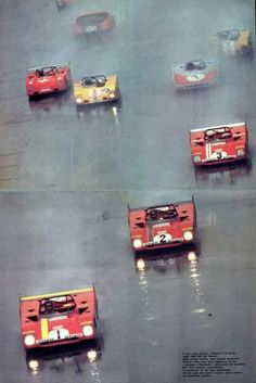 A one, two, three start for the Spa Ferrari SEFAC team's Ferrari 312 PB:s during the Monza 1000 km, Winning drivers were Jacky Ickx and Clay Regazzoni in car Sports Car Racing, Road Racing, Sport Cars, Race Cars, Auto Racing, Le Mans, Vintage Racing, Vintage Cars, Ferrari Racing