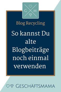 Es gibt eine Reihe von Möglichkeiten des Blogartikelrecycling. Ich zeige Dir wie es geht. Blog schreiben, Blog Artikel optimieren, SEO, Blogger, Blogger Tipps, Business Tipps, Content Marketing, Marketing Tipps #onlinebusiness #selbstständig machen Inspirations Boards, Kind, Online Business, Recycling, Earn Money Online, Studying, Upcycle