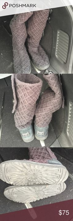 Ugg boots Used ugg lattice tall boots UGG Shoes Winter & Rain Boots
