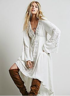 Cotton Viscose Solid Long Sleeve High Low Casual Dresses