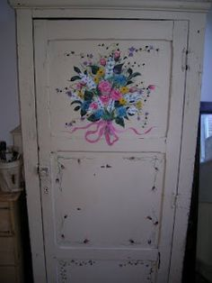 Kitchen cupboard I painted. Kitchen Cupboards, Armoire, Furniture, Home Decor, Kitchen Cabinets, Clothes Stand, Decoration Home, Closet, Room Decor