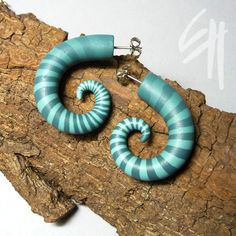 Earings | Polymer clay jewellery ...spiral - inspiral... | By: E.H.design | Flickr - Photo Sharing!
