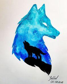 63 new ideas fantasy animal art drawings beautiful Watercolor Wolf, Watercolor Galaxy, Galaxy Painting, Fantasy Wolf, Anime Art Fantasy, Fantasy Kunst, Galaxy Wolf, Galaxy Art, Galaxy Theme