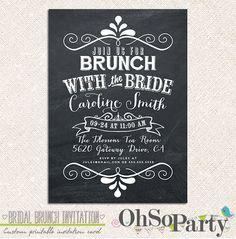 BRIDAL CHALK Custom Bridal Brunch Invitation Card on Etsy, $15.00