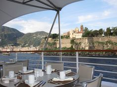 Breakfast on the @Seabourn Cruise Legend with a view of Lipari! #seabourn @livlifetoo