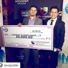 #VéndemeTúSueño primera temporada ya tiene ganador! Conócelo @univisionaz #entrepreneur @seedspot #winner #soloalas10