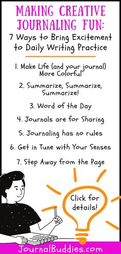 Try these simple creative journaling tips to make writing more accessible and fun for kids of all ages!