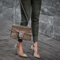 jogger pants ft. pumps & gucci purse
