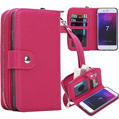 iPhone 7 Plus Case, iPhone 7 Plus Zipper Wallet Case, Pasonomi PU Leather Protective Shell Detachable Folio Flip Holster Carrying Case with Card Holder for iPhone 7 Plus (Hot Pink)  http://topcellulardeals.com/product/iphone-7-plus-case-iphone-7-plus-zipper-wallet-case-pasonomi-pu-leather-protective-shell-detachable-folio-flip-holster-carrying-case-with-card-holder-for-iphone-7-plus/?attribute_pa_color=hot-pink  Perfect Design for iPhone 7 Plus 5.5 inch Big Size, Not fit for
