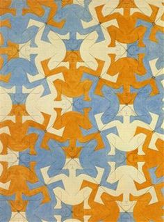 Systematic Study -Artist: M. Escher Completion Date: 1936 Style: Op Art Genre: tessellation .- I love his use of repetition with unusual shapes Mc Escher, Escher Art, Op Art, Lascaux, Tesselations, Illusion Art, Dutch Artists, Art Database, Art For Art Sake