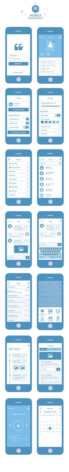 Inspiration Mobile #13 : Ui Kits et Wireframes pour vos applications | Blog du Webdesign