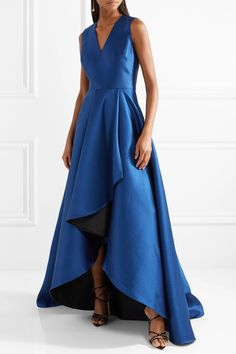 Jason Wu | Asymmetric satin-crepe gown | NET-A-PORTER.COM