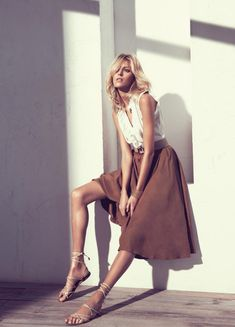 Anja Rubik for Massimo Dutti Spring 2011 Campaign by Paola Kudacki #fashion