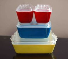 pyrex - mom had them and when I got married I got a set
