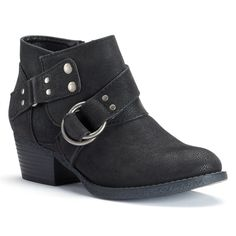 Got these cute booties in black & brown!!!  very comfy with memory foam inside....SONOMA life + style® Women's Harness Ankle Boots