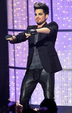 Adam Lambert's leatha party pants.