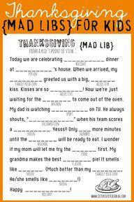 FREE Thanksgiving Ma...