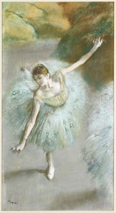 1883. Edgar Degas - Dancer in Green