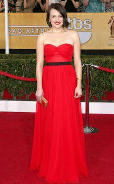 Elisabeth Moss from 2014 SAG Awards: Red Carpet Arrivals | Michael Kors | Eiseman Style | Red Carpet