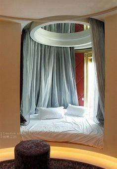 Semi-circular bed