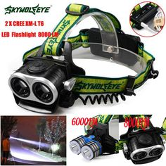 8000 lm Rechargeable T6 LED Bike Bicycle Front Head Light Headlamp Flashlight MN