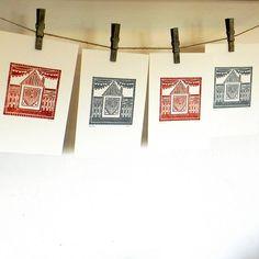 Beach House Lino print